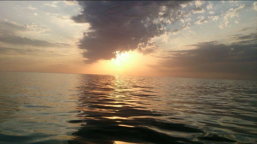 Kaspian Sea Water Sunset Beauty In Nature first eyeem photo