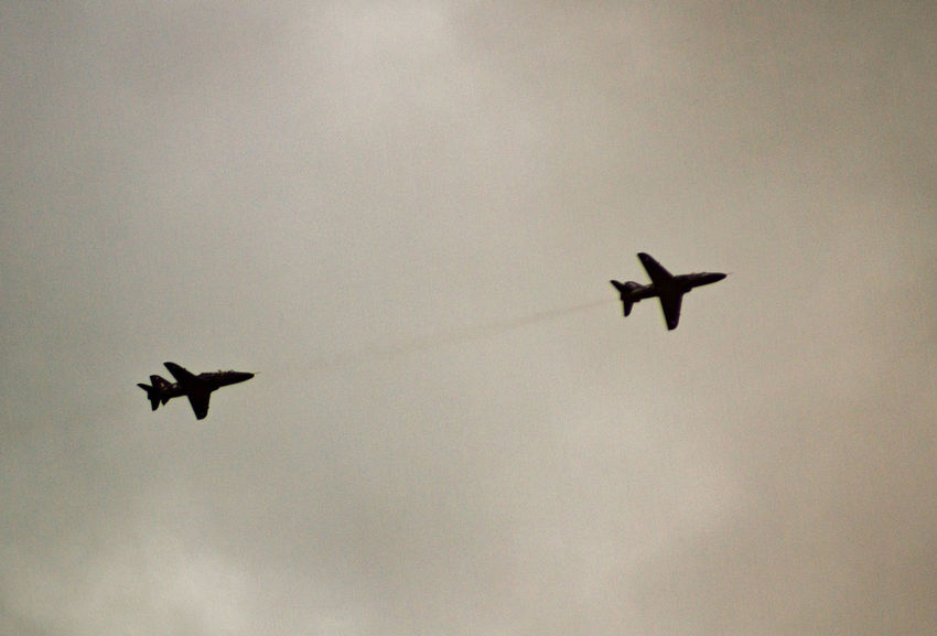 Acrobatic Flight Aerobatics Air Festival Airplane Cloud - Sky Fighter Jet Flight Flying Low Angle View Mid-air Military Airplane Mode Of Transport No People Outdoors Outline Planes Scenics Silhouette Sky Transportation