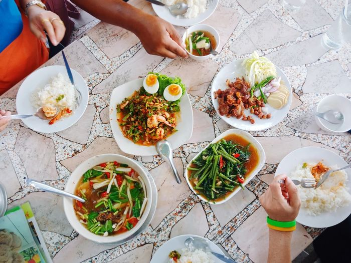 eating Human Hand Eating Healthy Lifestyle Plate Directly Above Bowl Table High Angle View Chopsticks Lunch Noodles Fried Rice Noodle Soup Spring Onion Thai Food Thai Food Soup Bowl Soup Dim Sum Served Steamed  Chinese Food Bean Sprout Stir-fried Spring Roll Chinese Takeout Curry Asian Food Ramen Noodles Tofu