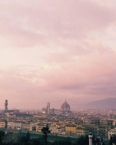 Florence nostalgia Nostragiornataaroma Goingrome Erasmus Roma Love Florence Firenze Sky Pink
