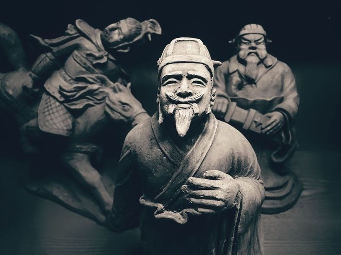 IPhoneography Shot On IPhone Male Likeness Sculpture Statue Human Representation History Indoors  No People Close-up Day Arts Culture And Entertainment Art ArtWork Model Ancient Civilization China The Three Kingdoms Blackandwhite Darkness And Light Cultures Black And White Friday