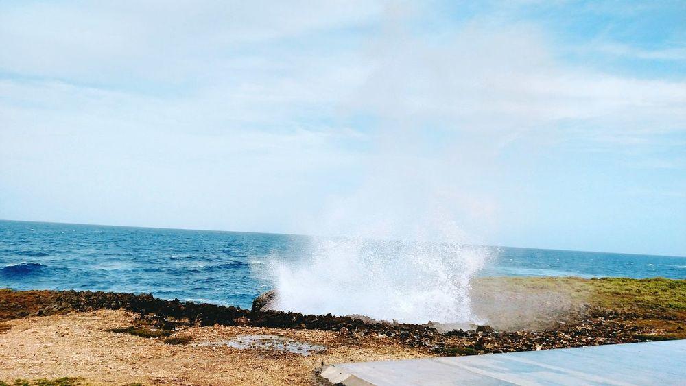 Cabrera Dominican Republic Summertime Splash Zone Ocean View Atlantic Ocean Cellphone Photography