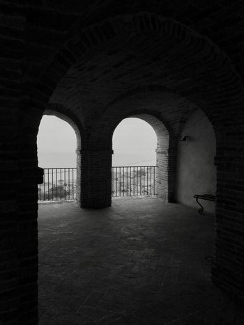 Monochrome Photography Arches Grottammare Mediterranean  Marche Region Piceno County Tourism View Blackandwhite Photography