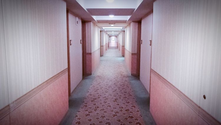 The pink corridor. The Way Forward Corridor Indoors  Architecture Passage No People Hotel Life Doors With Stories EyEmNewHere The Secret Spaces The Secret Spaces