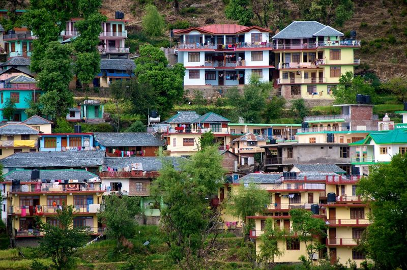 Colorful Houe Colourful Houses Daramsala Darmsala Daylight Destination Detached House Dharamsala McLeod Ganj Dharmshala Houses And Trees Houses On Hill Lovely Monochrome Mountain Houses Mountain Range Mountainside Dwellings Multi-coloured Houses Outdoors Pretty Houe Terraced Field Tourism View Of Houses