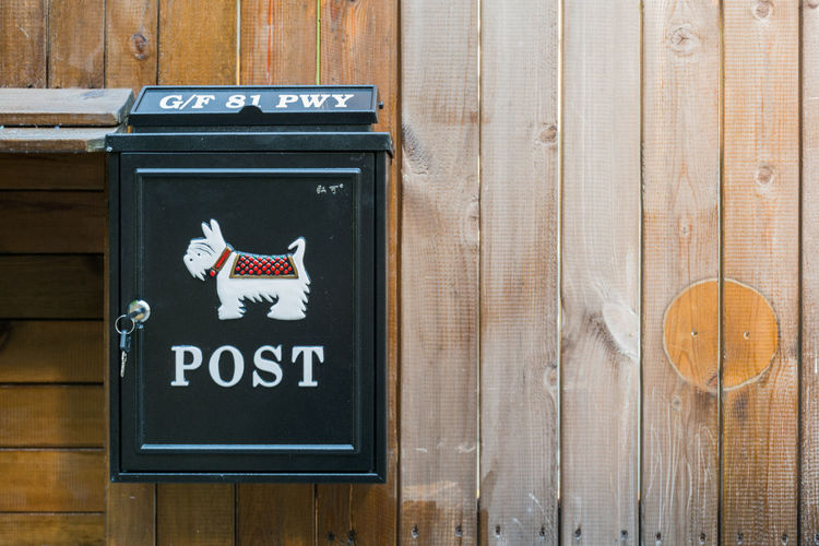 Animal Theme Close-up Communication Dog Mailbox Sending Snail Mail Wood - Material Writing Letters