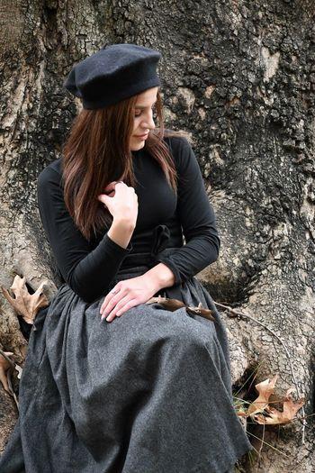 Full length of woman wearing hat