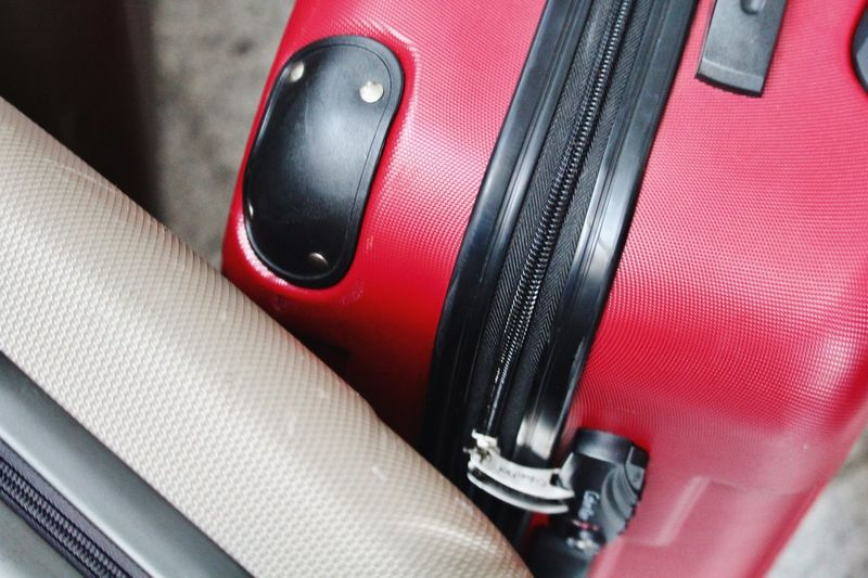 Airport Motor Vehicle Car Land Vehicle Mode Of Transportation Transportation Red Vehicle Interior High Angle View Close-up No People Metal Wealth Day Still Life Luxury Textile Safety Indoors  Travel Car Interior A New Beginning 17.62° My Best Photo