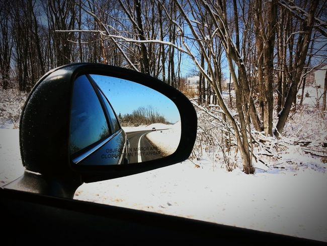 Road Trip Drivingshots Longdrive Snowwhite Rearviewmirror Reflection EyeEm Best Shots The Great Outdoors - 2017 EyeEm Awards
