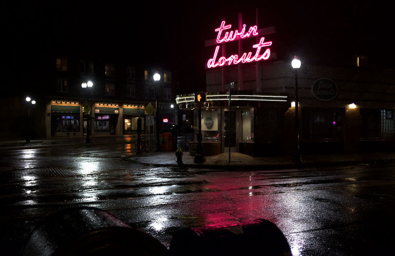 Reflection Night Lights Nightphotography Communication Sky Rainy Season Rainfall Wet Puddle Rain Neon