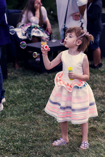 Happy, child, bubbles, fairy, sweet, innocent Love Childhood Cute Playing