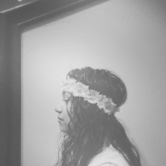 ·Diana· Flower Flower Headband Sun Flower Black & White