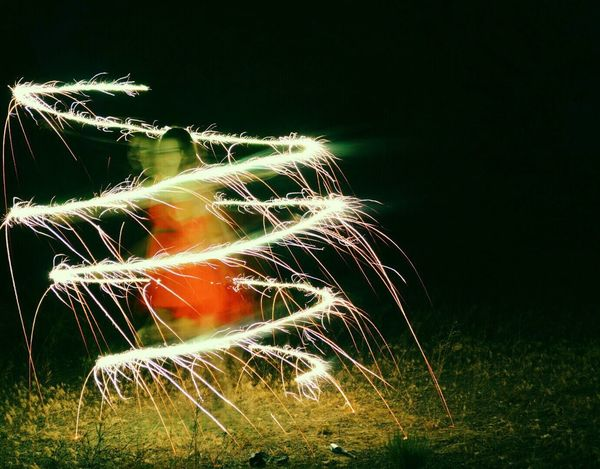 Night No People Field Nature Motion Outdoors Grass Long Exposure Growth Illuminated Beauty In Nature Close-up Wire Wool Sparkler Sparkler In Hand Night Photography Light 4th Of July Firework Burning Blurred Motion Glowing Sparks Exploding Celebration 100 Days Of Summer