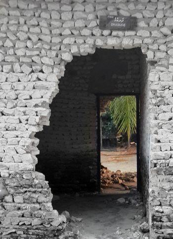 chaos and order Door Architecture Building Exterior Built Structure Open Door Entryway Stone Wall Front Door Wall Brick Wall Archway