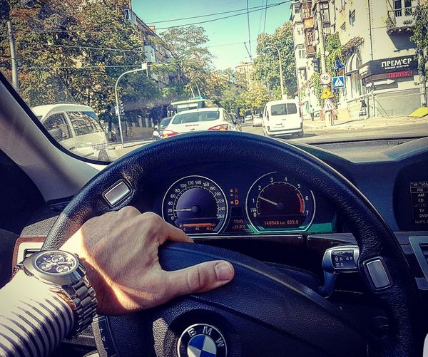 Day Road Street Mode Of Transport Car Land Vehicle Vehicle Interior Car Interior Travel Part Of Men Steering Wheel Bmw750i Bmw Drive Driv