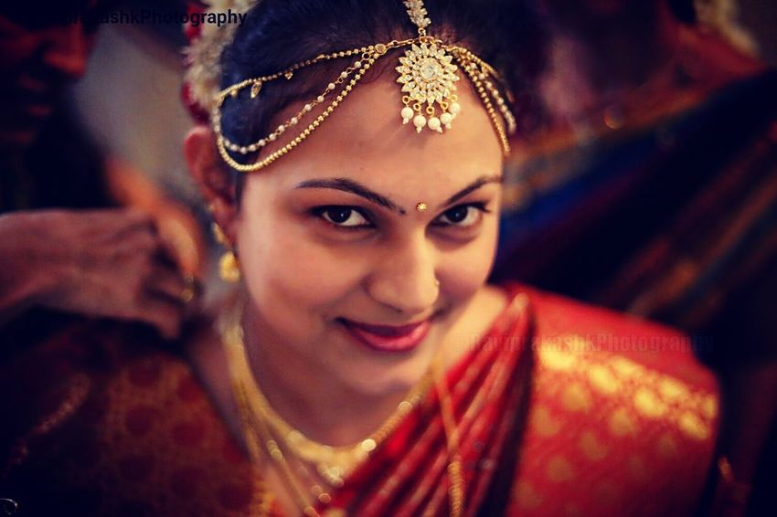 Portrait Looking At Camera Beautiful People Cultures Tradition Real People Females Young Women Smiling Beauty Red Indian Culture  Indian South Indian Wedding Postprocessing Candid Portraits Candidphotography