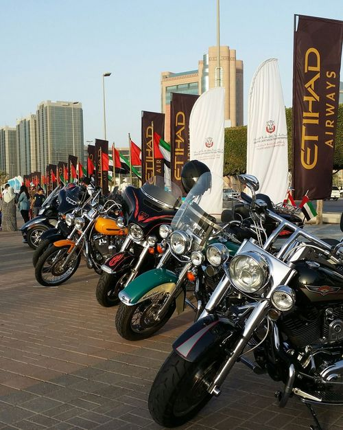 Uae,abudhabi Motorcycles Show at the side of Etihadairways 3rd Annual Charity Event Run For A Cause Outdoor Photography