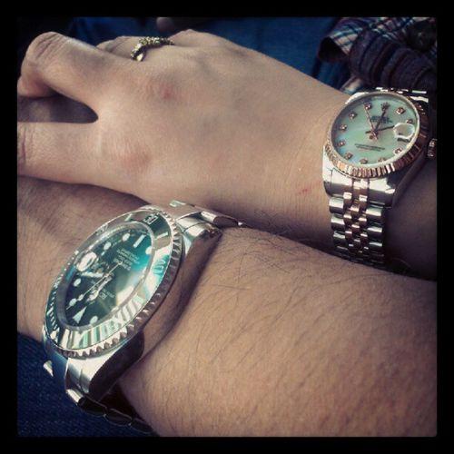Newwatches Emeraldgreen Champaignpink Rolex