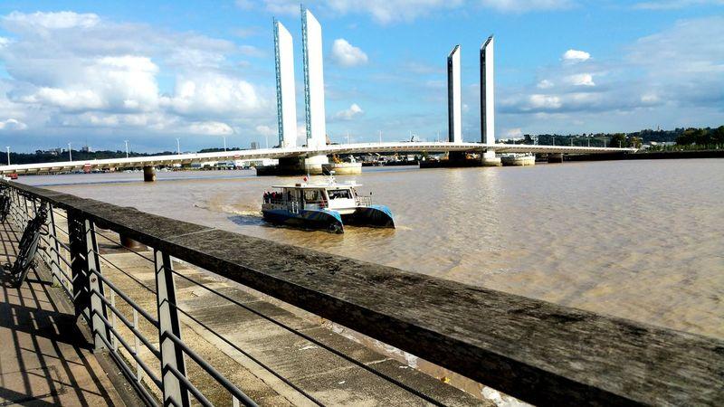 Water Bridge - Man Made Structure Architecture Pont Bordeaux Bateaux Garonne Fleuve Port De La Lune Outdoors Quai