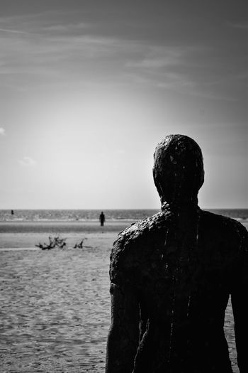 Another Place Another Place By Anthony Gormley Art Beach Black & White Black And White Contemplation Day Horizon Over Water Landscape Lonely Looking Out To Sea Monochrome Nature On The Beach Outdoors Sand Sculpture Sea Seascape Sky Standing Water Long Goodbye TCPM