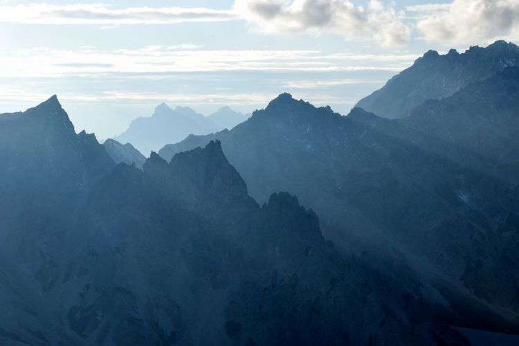 View at bavarian alps at berchtesgaden national park, germany