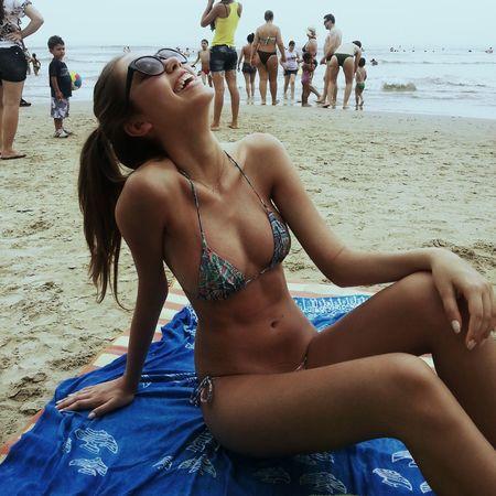 Relaxing Summertime Enjoying Life Beach