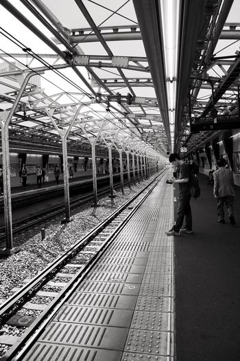 Railroad Track Transportation Public Transportation Rail Transportation Railroad Station Platform Railroad Station Real People Indoors  Train - Vehicle Day Men Group Of People People Tim Wong Japan Sony