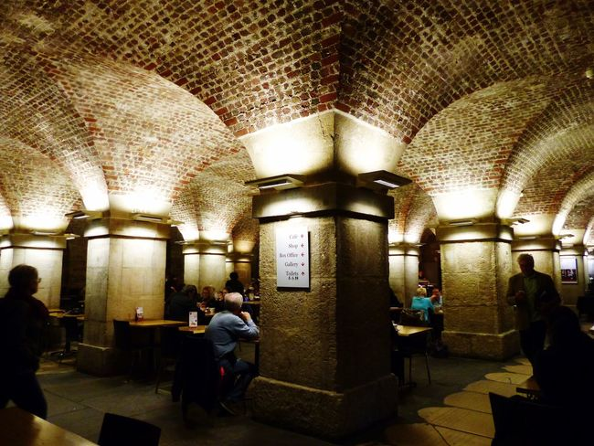 Coffee in the Crypt EyeEm LOST IN London Londonlife LONDON❤ St Martin-in-the-fields Crypt Underground Illuminated Architecture Vaulted Ceiling Cafe
