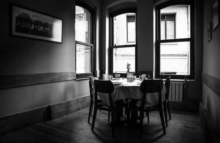 Old Tavern Window Indoors  Sunlight No People Architecture Chair Day Tavern  Alcohol Drink Drinks Drinks With Friends Empty Old Old Buildings Old-fashioned Memories Old Memories Blackandwhite Black And White Retro Vintage Vintage Moments