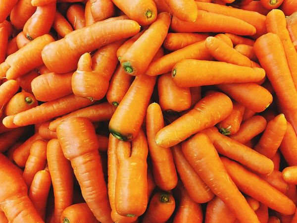 Carrots Vegetable Carrot Food And Drink Orange Color Food Healthy Eating Abundance For Sale Root Vegetable Healthy Lifestyle Market Full Frame