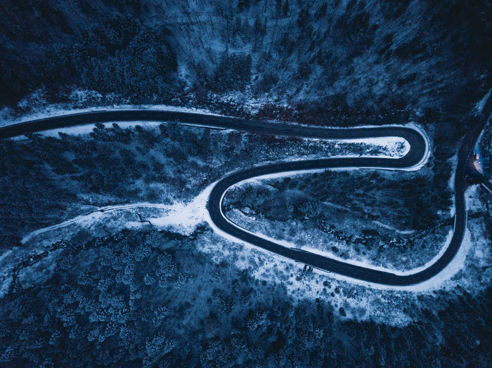 Winter Wonderland in the Black Forest Aerial Shot Dark Drone  From Above  Frozen Luftbild Magical Mystic Road Schwarzwald Winter Black Forest Blue Cold Drohne Drone Photography Dunkel Eingeschneit Landscape Mystisch Snow Straße Von Oben Winterlandscape Winterlandschaft The Traveler - 2018 EyeEm Awards HUAWEI Photo Award: After Dark