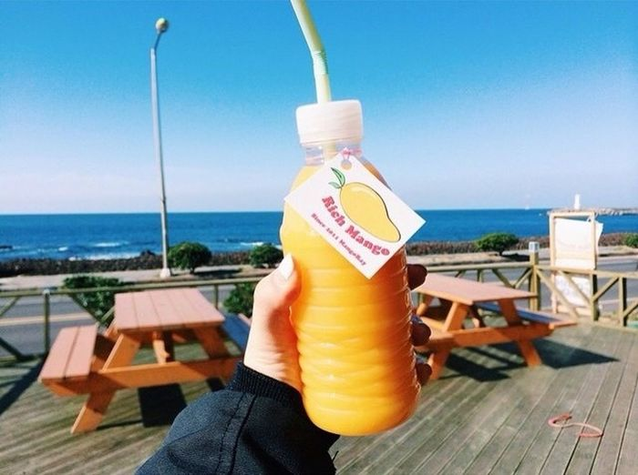 Mango Juice Enjoying Life loving it.