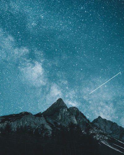 Milky way over mountains Alps Astronomy Beauty In Nature Galaxy Landscape Milky Way Mountain Mountain Range Nature Night No People Outdoors Scenics Sky Snow Space Space And Astronomy Star - Space