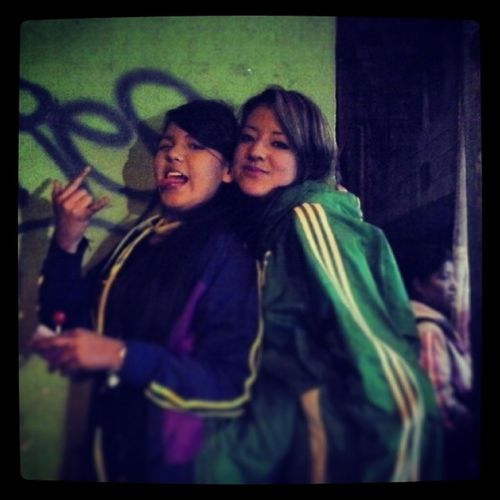 Kathe and karit..... Ultras Girl Atlnacional Hooligans
