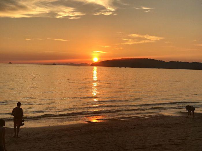 Sunset Sunset Scenics Beach Beauty In Nature Sky Water Sun Orange Color first eyeem photo