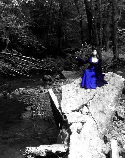 Ruins Concrete Jungle Abandoned Places Color Splash Gown Barefoot Crumbling Princess Dress