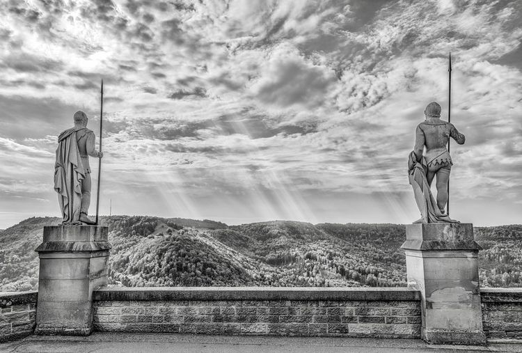Centurion, castle outside Stuttgart Germany. Takes you back to ancient times... Germany Photos Old Ruin Cloud - Sky Sky Nature Human Representation Day Outdoors My Best Travel Photo Architecture Representation Sculpture Statue My Best Travel Photo