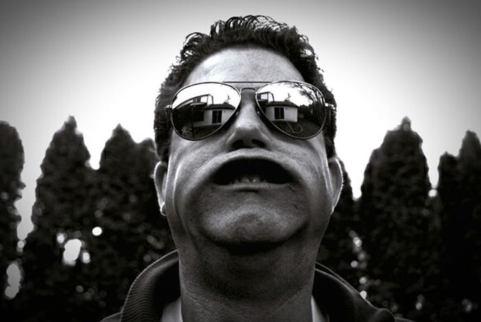 B&w B&W Portrait Aviator Sunglasses