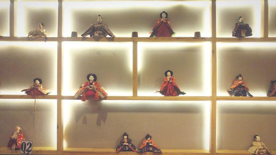 Japanese culture dolls Interior Shelf Culture Japanese  Lights Indoors