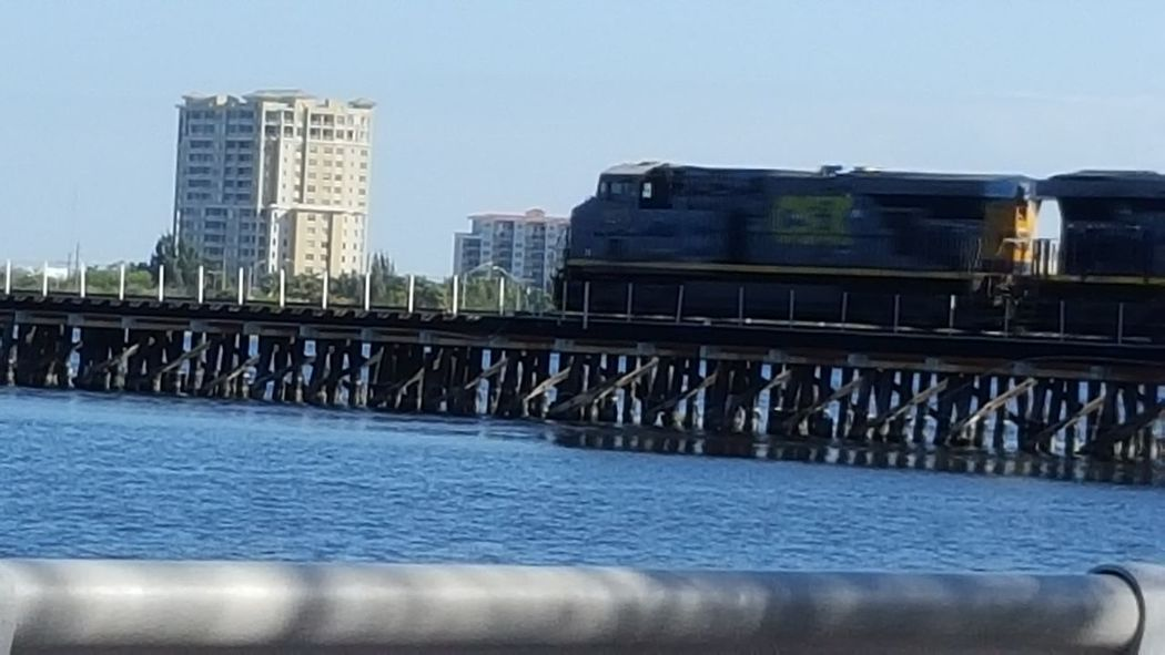 Train crossing the river Train Crossing River Manatee River River Walk Taking Photos Bradenton FL
