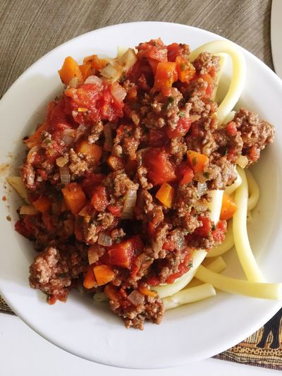 Nudeln mit selfmade Bolognese Sehr Lecker Gesund Lowcarb 🍝