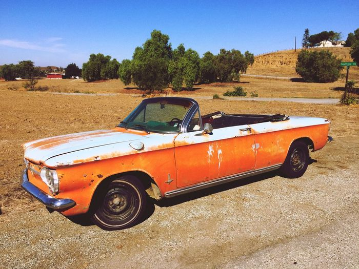 Small Town Countryside Canon California California Dreaming Vintage Cars Corvair Chevy Classic Car