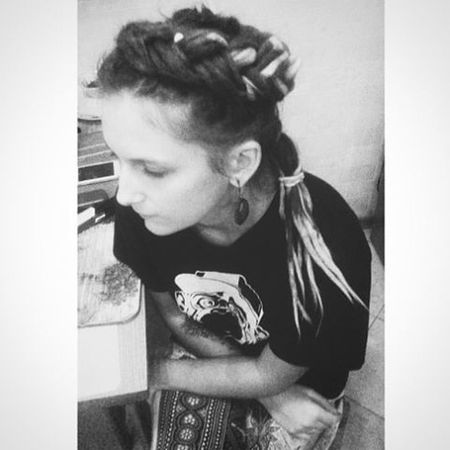 Dreadlocks Dreads Dreadgirl Hairstyle Hair Vscocam VSCO Girl Blackandwhite Bw Black White