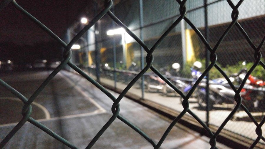 Chainlink Fence Night Close-up Empty Basketball Court The Street Photographer - 2017 EyeEm Awards