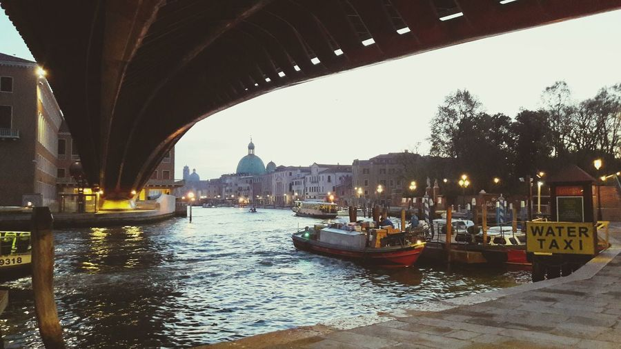 Bridge - Man Made Structure Nautical Vessel Transportation Canal Travel Destinations Architecture Night Vacations Outdoors Water No People Sky Gondola - Traditional Boat