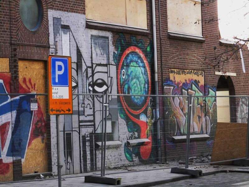 Art Art And Craft Communication Creativity Day Demolition Zone Full Frame Graffiti Multi Colored No People Picturing Individuality Street Art Streetphotography Text Wall Wall - Building Feature