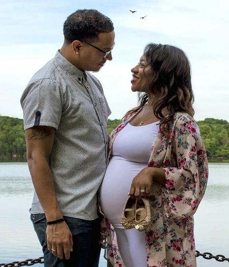 Beautiful little family. Maternity Engaged Pregant Two People Togetherness Adult People Love Heterosexual Couple Young Adult Young Women Outdoors Couple - Relationship Happiness Babybump Standing Couple