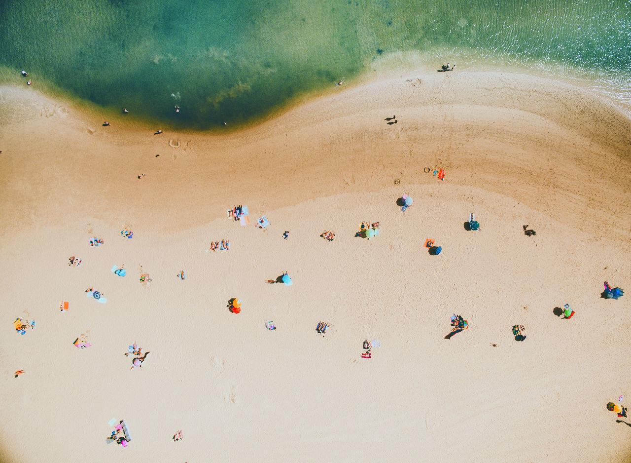 Aerial View,  Beach,  Beach Umbrella,  Beauty In Nature,  Caldas Da Rainha