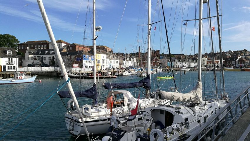 Dorset Coast English Harbour Harbor Nautical Vessel Old Harbour Outdoors Sailboat Sea Sky Waterfront Weymouth Weymouthwaterfront Yacht