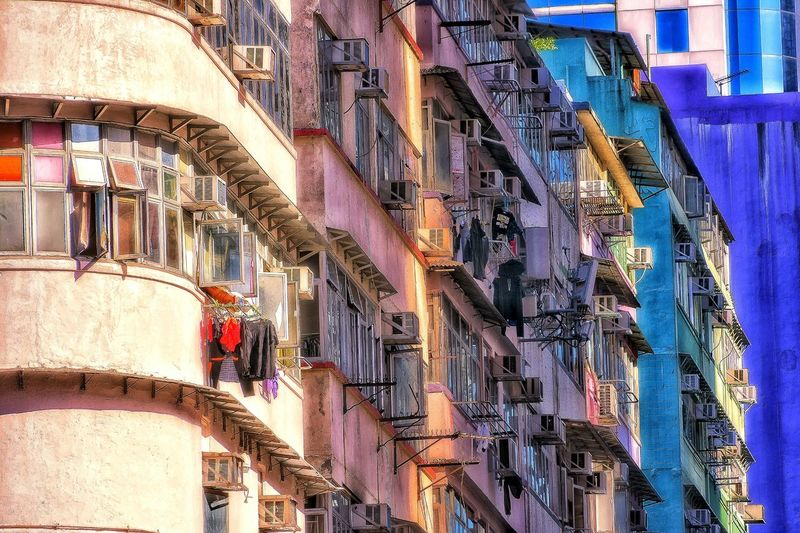 Day Full Frame Outdoors Backgrounds Architecture Close-up Check This Out Multi Colored Old Buildings Apartment Building Exceptional Photographs EyeEm Masterclass Mood Captures Eye For Photography EyeEm Gallery Drying Laundry Old Towns